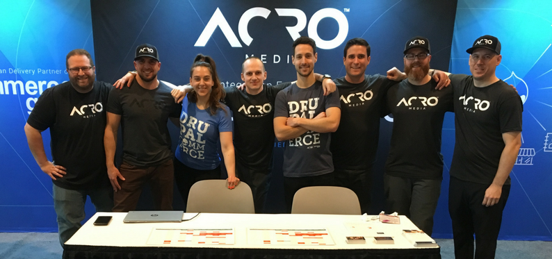 The Acro Media team at DrupalCon 2018 in Nashville