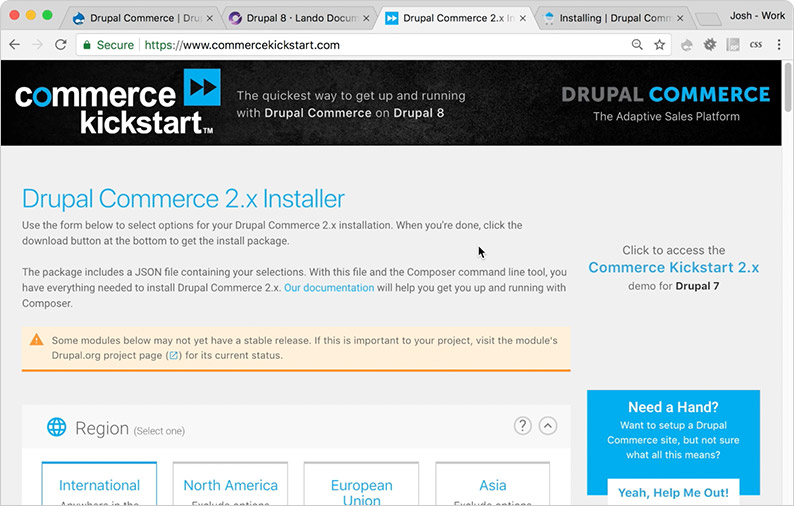 Drupal Commerce Kickstart
