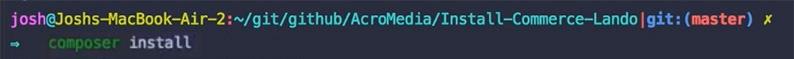 Composer install command