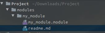 Example of module file structure with readme file