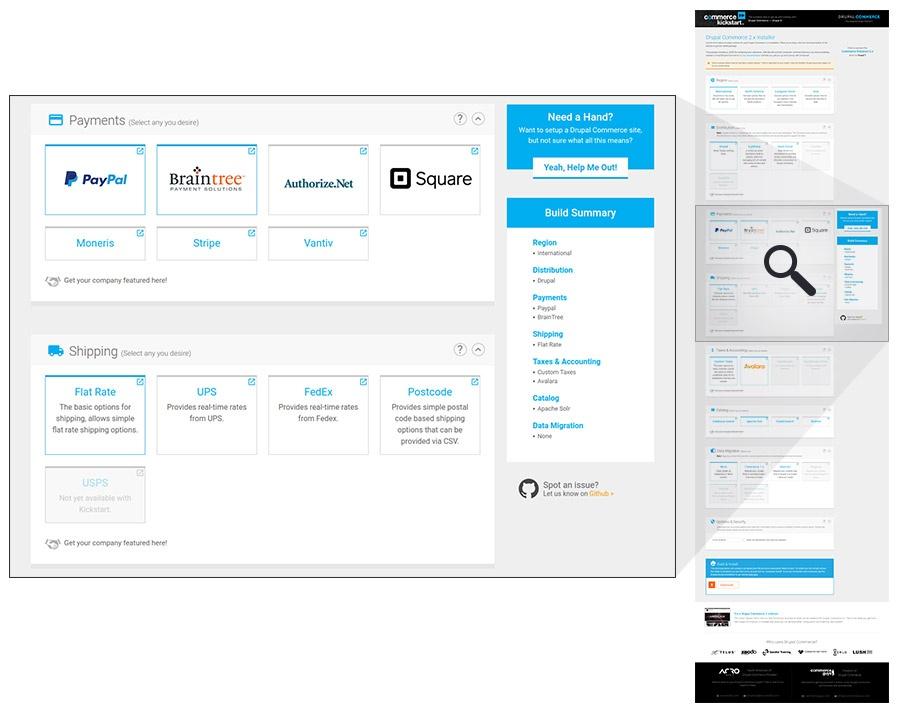 Screenshot of the Commerce Kickstart Installer