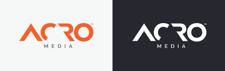 Acro Media logo and inverse