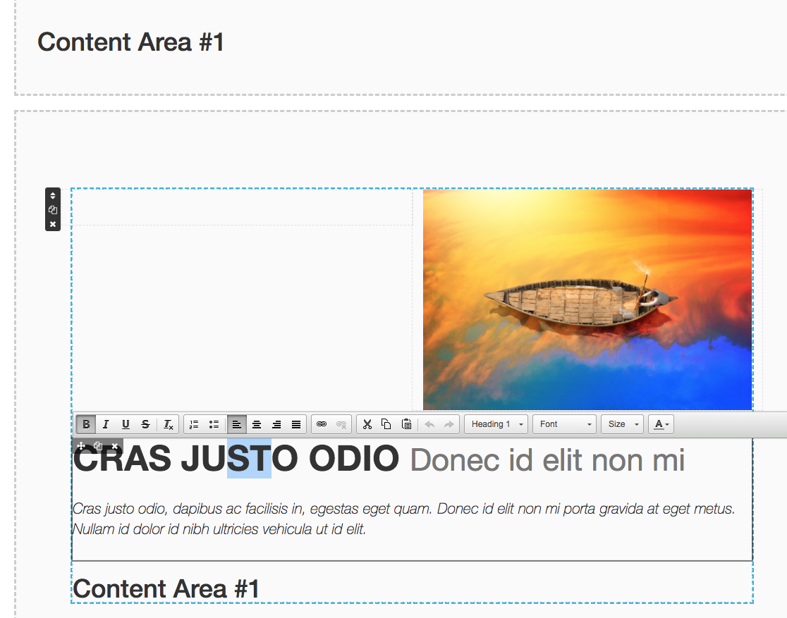 Example screenshot of keditor in action.