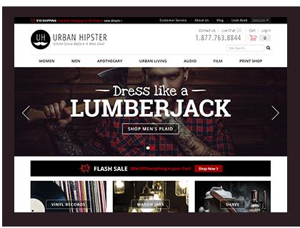 Urban Hipster Drupal Commerce demo site