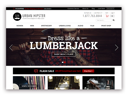 Urban Hipster Drupal Commerce demo site