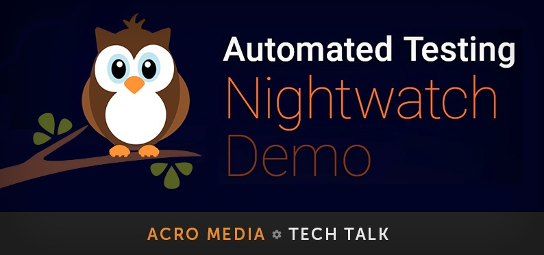 Using Nightwatch.js for Browser Automated Code Testing